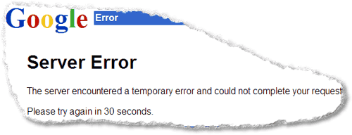 Error de Gmail