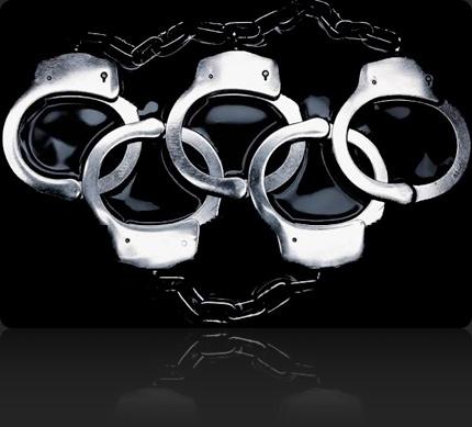 Logo del boicot para los Juegos Olímpicos de China